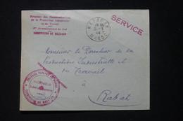 MAROC - Enveloppe Des Travaux Publics De Mazagan En 1944 Pour Rabat - L 90077 - Briefe U. Dokumente