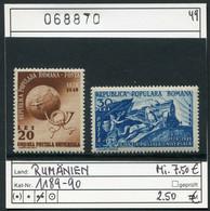 Rumänien  - Romina - Roumenie - Rominia - Michel 1189-1190   - ** Mnh Neuf Postfris - Eisenbahn - Railways Chem. De Fer - Ungebraucht