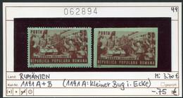Rumänien  - Romina - Roumenie - Rominia - Michel 1191 A+B  - ** Mnh Neuf Postfris - (1191A Kl. Bug In Ecke) - Ungebraucht