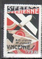 Vignette 5e Fete Aerienne, Vincennes 1928 - Aviation