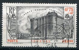 Sénégal    PA 12 Oblitéré  Bastille - 1939 150e Anniversaire De La Révolution Française