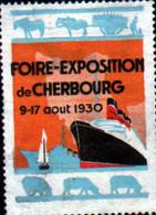Vignette Foire Exposition De Cherbourg 1930 - Autres