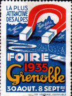 Vignette Foire De Grenoble 1935 - Autres