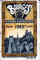 Vignette Xème Foire Exposition De Bourges, 1929 - Autres