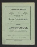 Couverture De Cahier Scolaire.   Ecole Communale De Limoges.   Années 30. - Book Covers
