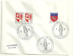 LOIRE / HAUTE - Dépt N° 43 = LAVAUDIEU 1969 = CACHET Illustré ' CENTENAIRE De L' ABBAYE ' - Cachets Commémoratifs