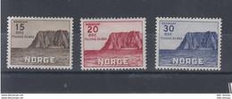 Norwegen Michel Cat.No.  Mnh/**284/286 - Unused Stamps
