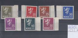 Norwegen Michel Cat.No. Mnh/** 223/229 - Unused Stamps
