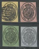 SPAGNA 1855 SERVICE Set 4 VALORI UNO USATO, 3 HINGED - Neufs