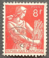 France YTPO108 - Timbres Pré-oblitérés Type Moissonneuse 8 F MNH W/o Gum Stamp 1953 - FRAPO108MNH2 - 1953-1960