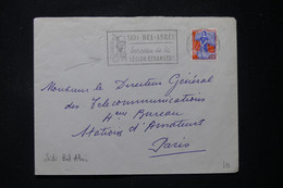 ALGÉRIE - Enveloppe De Sidi Bel Abbés En 1960 Pour Paris, Affranchissement Marianne à La Nef, Obl. Légion - L 90091 - Lettres & Documents