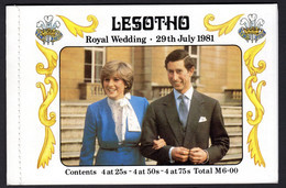 LESOTHO - 1981 ROYAL WEDDING BOOKLET COMPLETE FINE MNH ** SG SB2 - Lesotho (1966-...)