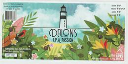 La Réunion 33cl ** DALONS Brasserie ** étiquette 184X80mm, Label Biere Birra Cerveza Piwo Pilsen - Bier