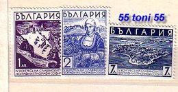 1936  Congress Of Slavic GEOGRAPHERS & ETNOGRAPHERS  Yvert- 287/89  3v.-MNH  BULGARIA / Bulgarie - Neufs