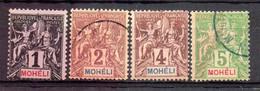 Mohéli  Bureau Français Oblitéré - Non Classés