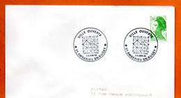 01 AMBERIEU EN BUGEY   VILLE OUVERTE  1988 Lettre Entière N° JK 715 - Cachets Commémoratifs