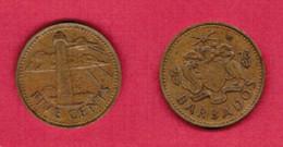 BARBADOS  5 CENTS 1973 (KM # 11) #6288 - Barbados