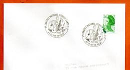 42 LEPUY EN VELEY SERVICE SANTE   S.P.  1988 Lettre Entière N° JK 719 - Cachets Commémoratifs