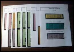 Départ 1 Euro - Collection De Timbres De Grève - Saumur 1953 Bel Ensemble Cote +/- 1000 Euros - France - Collections