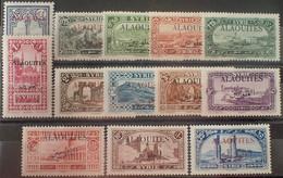 R2452/133 - 1925/1930 - COLONIES FR. - ALAOUITES - SERIE COMPLETE - N°22 à 34 NEUFS* - Neufs