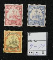 Nr. 9-11 Marianen Mit Pfalz - Colonia:  Isole Marianne