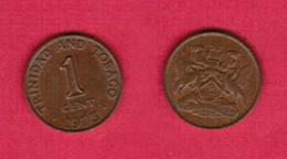 TRINIDAD & TOBAGO  1 CENT 1973 (KM # 1) #6293 - Trinidad & Tobago