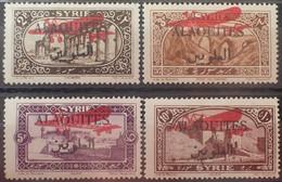 R2452/136 - 1926 - COLONIES FR. - ALAOUITES - POSTE AERIENNE - SERIE COMPLETE - N°9 à 12 NEUFS* - Neufs