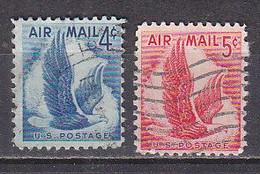 J0388 - ETATS UNIS USA AERIENNE Yv N°47/48 - 2a. 1941-1960 Usados
