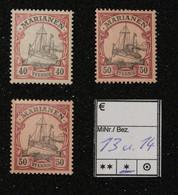 Nr. 13 Und 14 Marianen Mit Pfalz - Colonia:  Isole Marianne