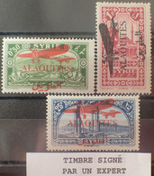 R2452/138 - 1929 - COLONIES FR. - ALAOUITES - POSTE AERIENNE - N°14 à 16 NEUFS* ➤➤➤ N°16 Signé BRUN Expert - Neufs