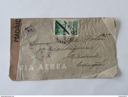 Lot De 2 Enveloppes Envoyées D'Argentina Via Correo Aereo . Censura Gubernativa Madrid . ... Lot41 . - Briefe U. Dokumente