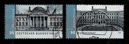 Bund 2009,Michel# 2757 - 2758 O  Deutscher Bundestag Und Bundesrat, EM Aus Block 76 - Blokken