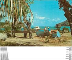 Photo Cpsm Cpm GUADELOUPE. Terre-de-Haut. Légère Réparation à La Baie Du Marigot 1982 - Other