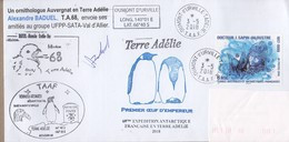 TAAF PLI TERRE ADELIE. TP 849 Obl. 3 5 2018 Cachets Divers Signé TB - Non Classificati