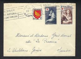 FRANCE 1954: LSC De Paris Pour La Suisse - Briefe U. Dokumente