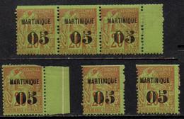 MARTINIQUE / 1886 - 6 EX - 05 SUR 20 ALPHEE DUBOIS - MAURY # 3 ** / COTE 240.00 EUROS (ref 7008d) - Neufs