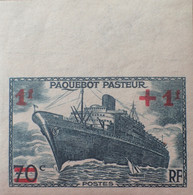 "R1491/103 - 1941 - PAQUEBOT "" PASTEUR "" - N°502a NEUF** NON DENTELE Avec GRAND BdF - Imperforates"