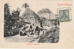 Libya Postcard Tripoli Habitation Negresse - Libia