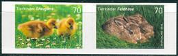 BRD - Mi 3222 / 3223 Gestanzt Aus FB 65 ✶✶ (A) - 70/70C        Tierkinder Graugans Feldhase, Ausgabe 01.03.2016 - Unused Stamps