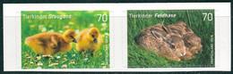 BRD - Mi 3222 / 3223 Gestanzt Aus FB 65 ✶✶ (B) - 70/70C        Tierkinder Graugans Feldhase, Ausgabe 01.03.2016 - Unused Stamps