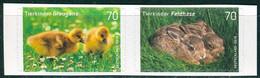 BRD - Mi 3222 / 3223 Gestanzt Aus FB 65 ✶✶ (C) - 70/70C        Tierkinder Graugans Feldhase, Ausgabe 01.03.2016 - Unused Stamps