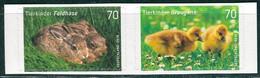 BRD - Mi 3222 / 3223 Gestanzt Aus FB 65 ✶✶ (D) - 70/70C         Tierkinder Graugans Feldhase, Ausgabe 01.03.2016 - Unused Stamps