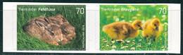 BRD - Mi 3222 / 3223 Gestanzt Aus FB 65 ✶✶ (E) - 70/70C         Tierkinder Graugans Feldhase, Ausgabe 01.03.2016 - Unused Stamps