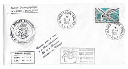Marion Dufresne FSAT TAAF. 21.03.1976 Crozet Campagne Oceanographique MD08. T. 0.40 Sterne Cachet à Froid - Cartas
