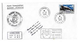 Marion Dufresne FSAT TAAF. 21.03.1976 Crozet Campagne Oceanographique MD08. T. 1.00 Phoque De Weddell Cachet à Froid - Cartas