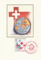 Carte Maximum FRANCE 1988 - N° Y&T 2555 (Anniversaire Croix Rouge) Obl Sp. Ill. 1er Jour  (Ed. FDC) - 1980-89