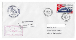 Marion Dufresne FSAT TAAF. 23.09.1976 Kerguelen. T. Marion. Campagne Océanographique MD11 - Cartas