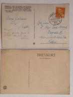 Set Of 2 Postcards Kobenhavn Copenhagen 30.10.51. Denmark 30 - Briefe U. Dokumente
