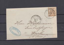 NDP Brief Strassburg Franz. Okkupation 10 Centimes EF 1871 Nach Woerth Gelaufen - Conf. De L' All. Du Nord