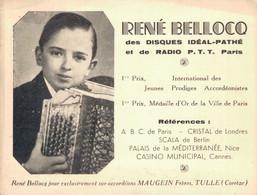 H0103 - René BELLOCQ - Accordéons MAUGEIN Frères - TULLE - Publicités